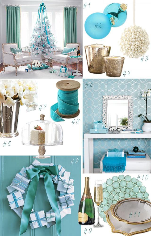 Xmas tiffany twisted design apothecary - Decoration bleu turquoise ...