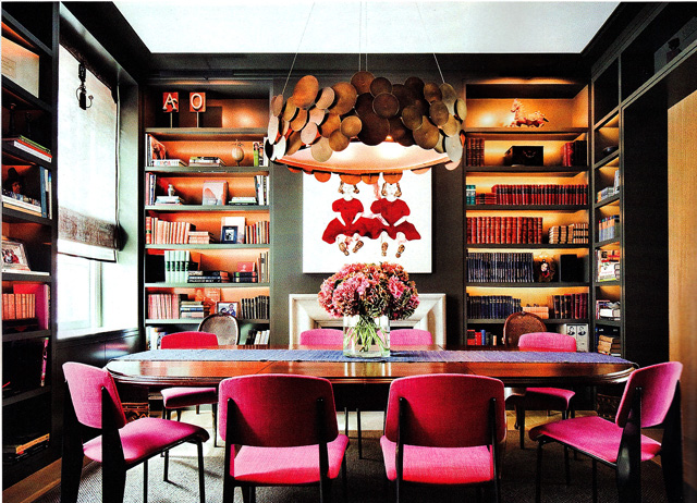 Room lust new york loft dining library design apothecary for Dining room library